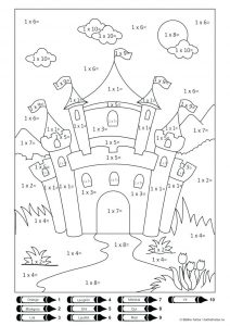Castle color by number multiplication