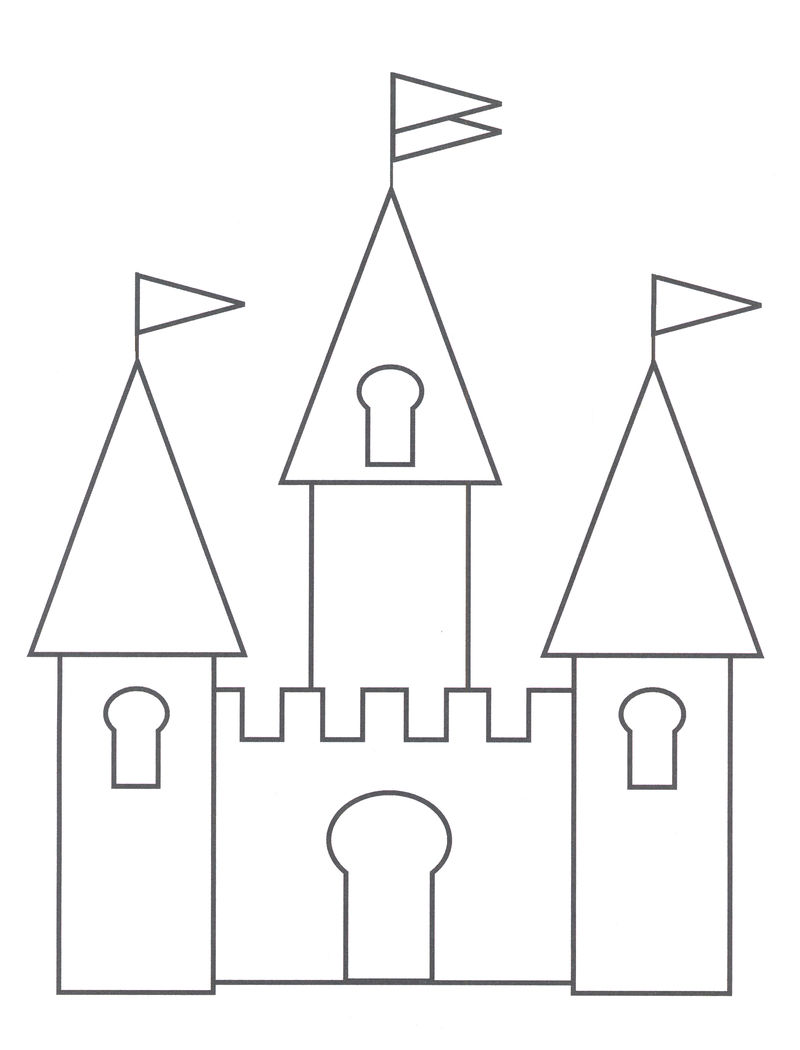 Castle Coloring Pages For Kids