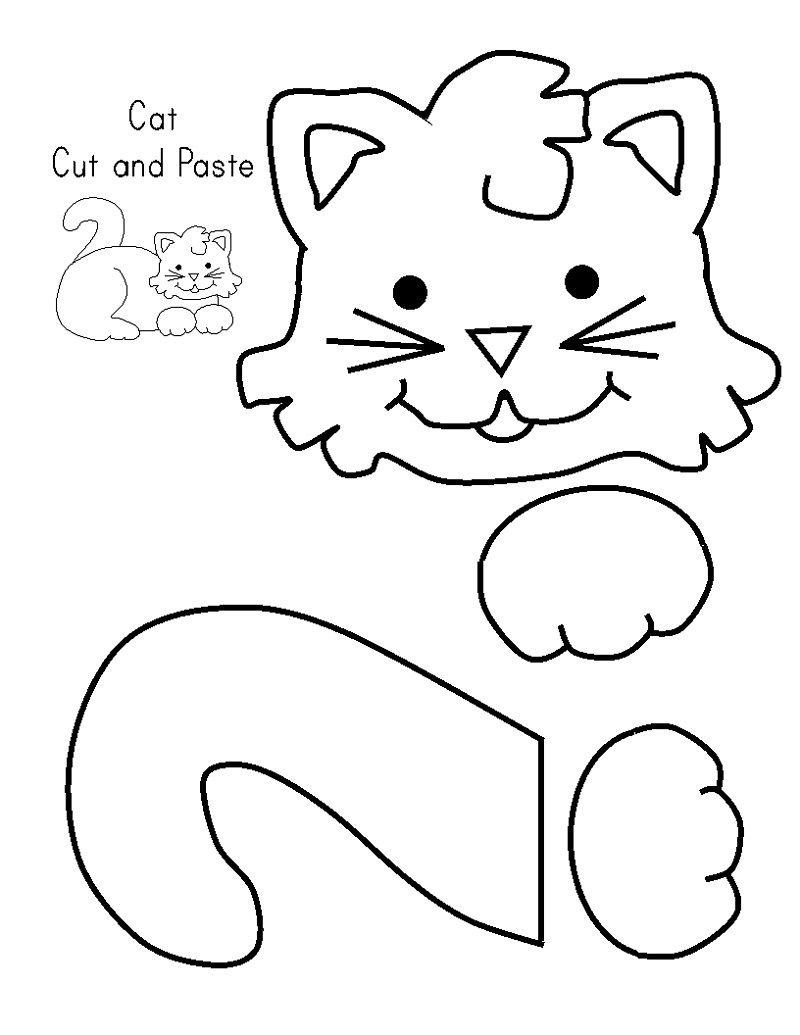 Cat Activities For Kids Cut And Paste