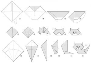 Cat activities for kids origami