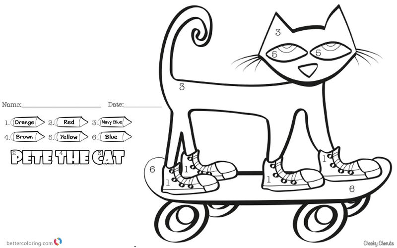 Cat Easy Color By Number Sheet