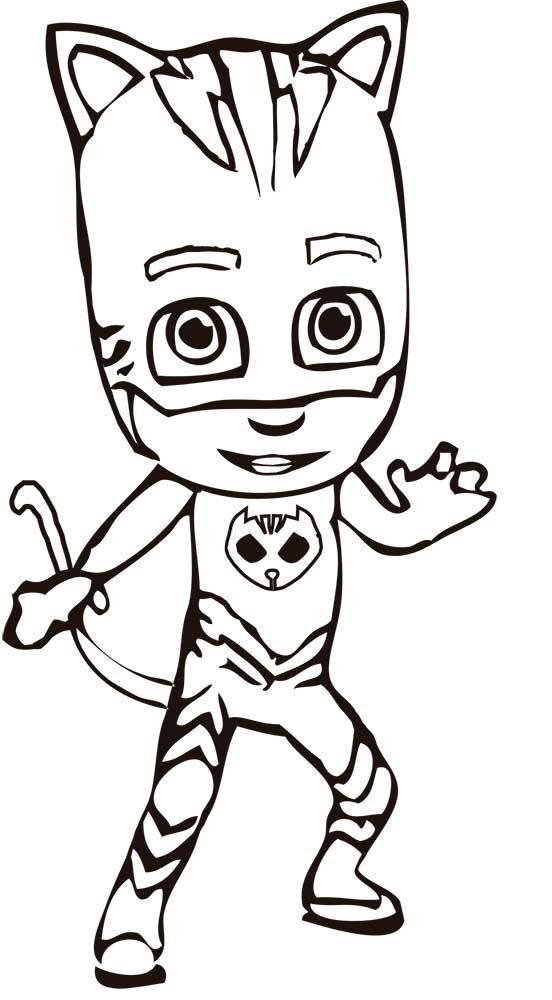 Catboy Character Pj Masks Coloring Pages 001 - Coloring Sheets