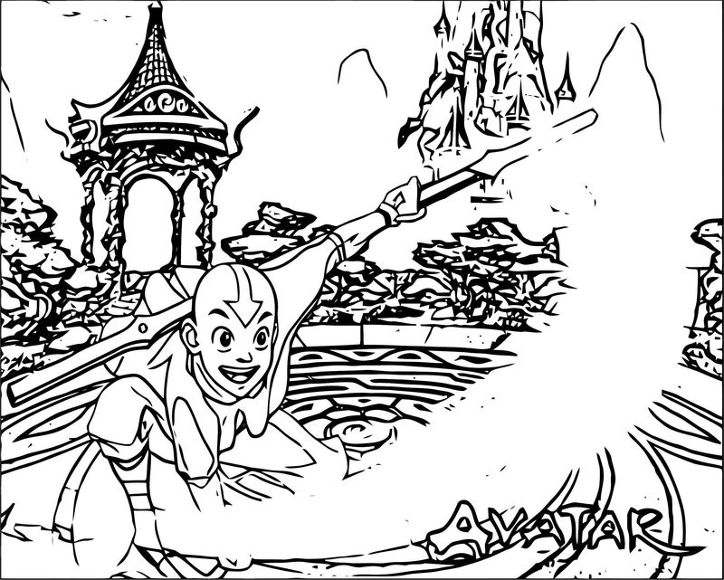 Ceaecfa Avatar Aang Coloring Page