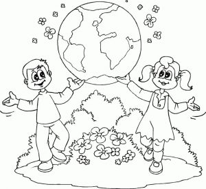 Celebrate earth day coloring pages