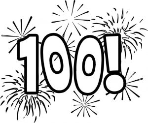 Celebration 100 days of school coloring page