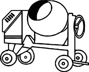 Cement truck vehicle coloring page