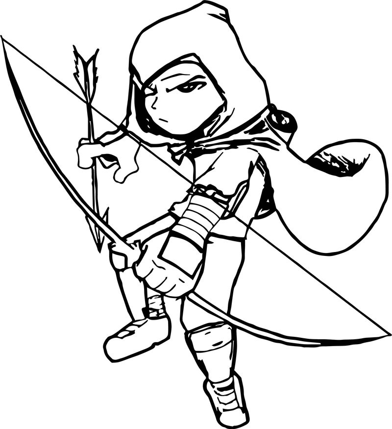Character Contest Archer Coloring Page