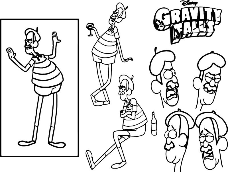 Character Design Assignment One Gravity Falls Coloring Page