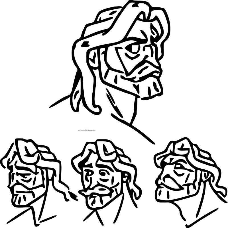 Character Design Assignment Tree Tarzan Faces Coloring Page