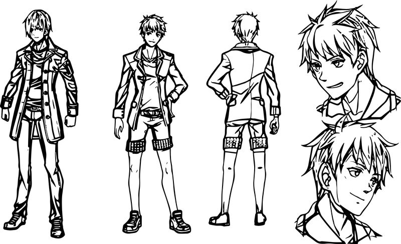 Character Design Commission December Coloring Page