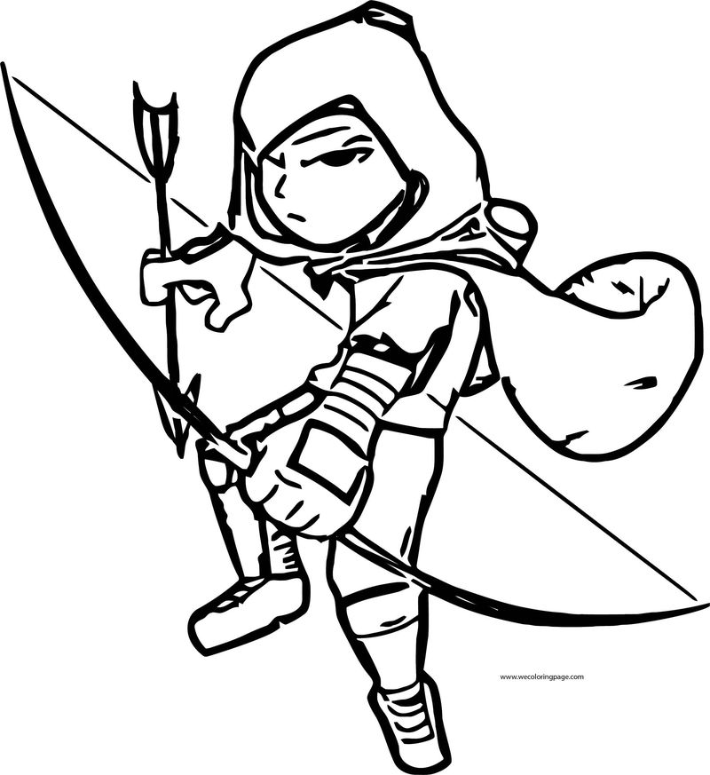 Character Design Contest Archer Leecheezy Coloring Page