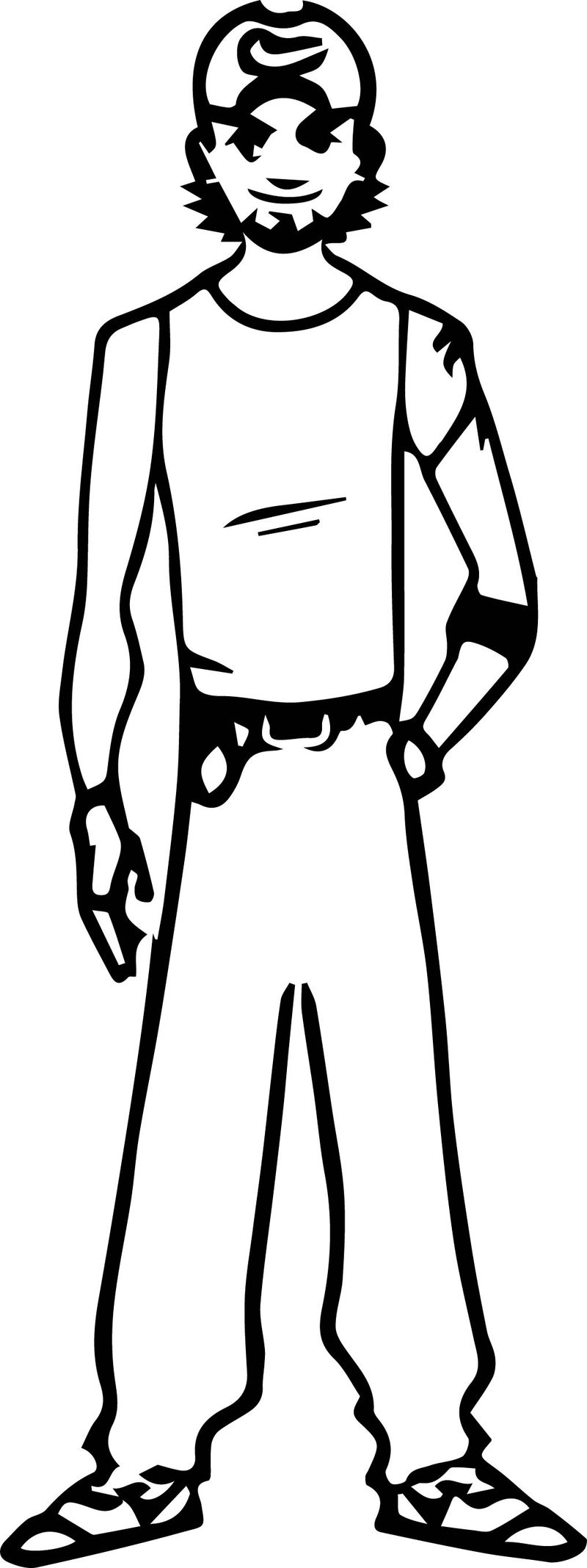 Character Design For Coloring Page