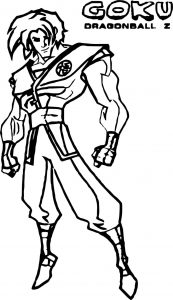 Character design goku coloring page