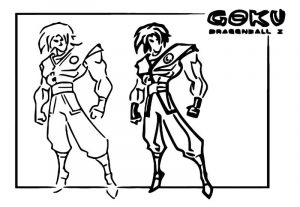 Character design goku gavinslayer cartoonized coloring page