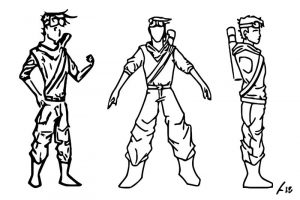 Character design in coloring page