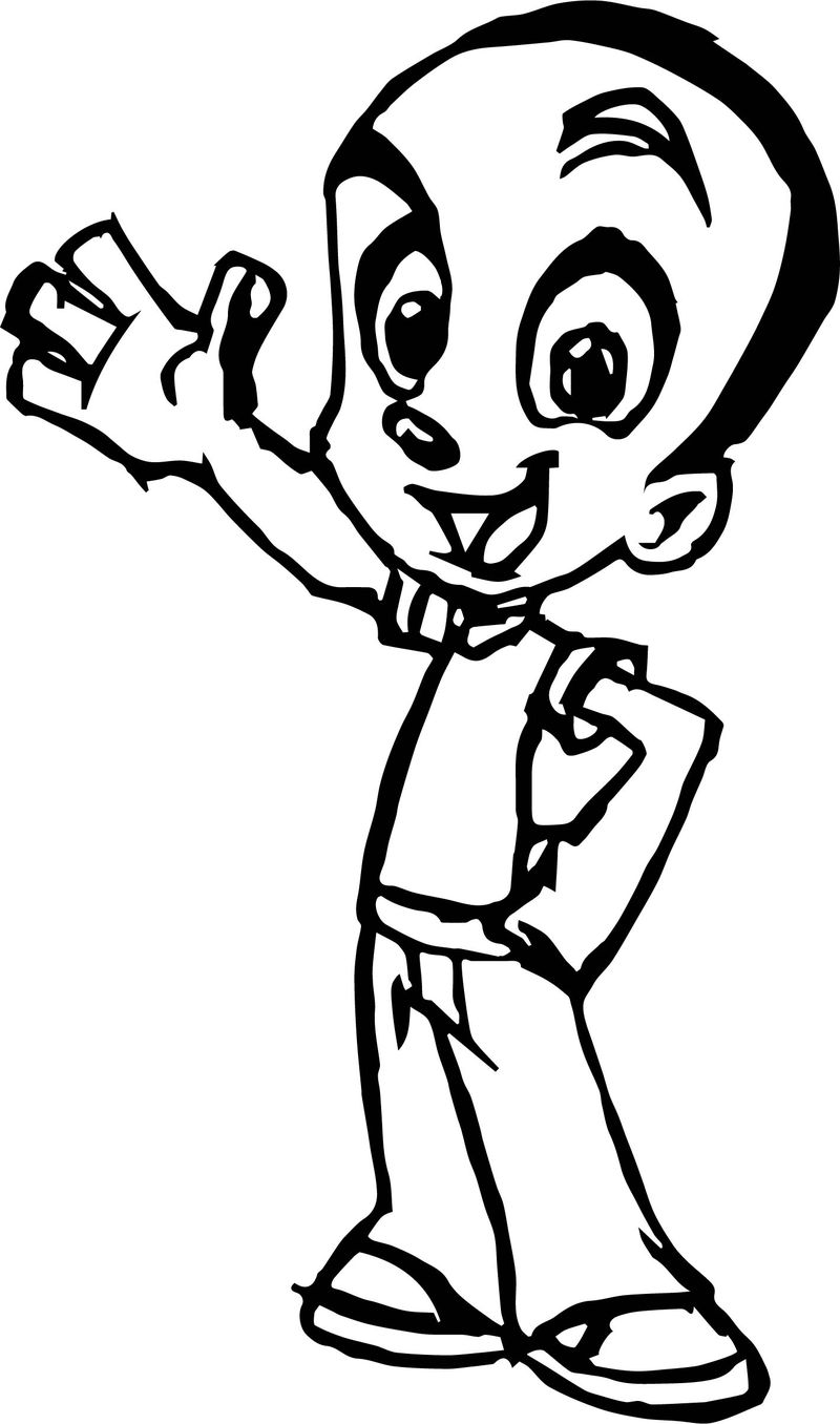 Character Design Sheet For A Cartoon Ish Style Character Coloring Page
