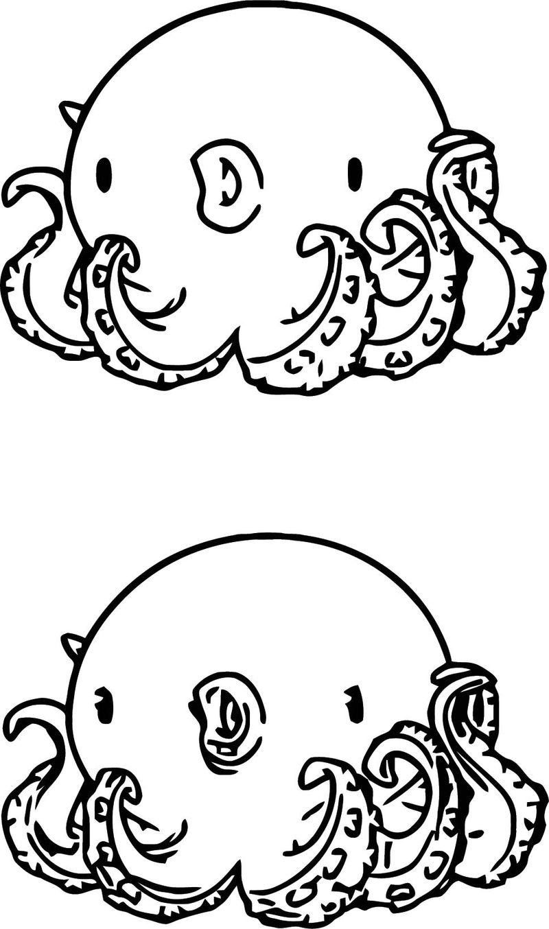 Character Designs Octopus Cartoonized Coloring Page