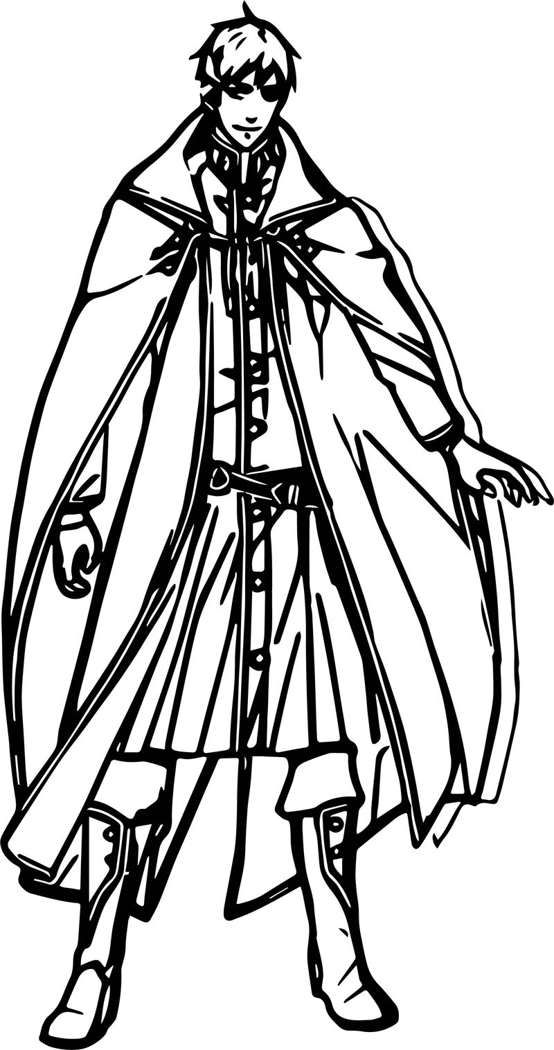 Character Knight Coloring Page