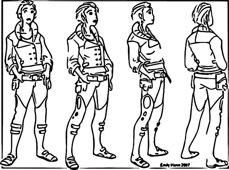 Character Rotation Edmidt Cartoon Coloring Page