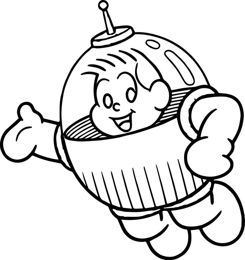 Characters Astronaut Reproduction Monica Boy Coloring Page