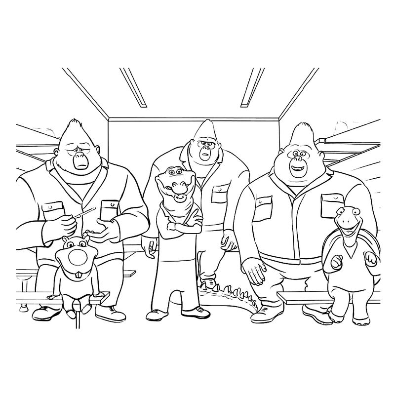 Characters From Sing Coloring Pages 001