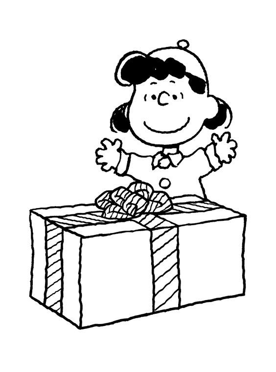 Charlie Brown Christmas Coloring Page Lucys Gift Coloring