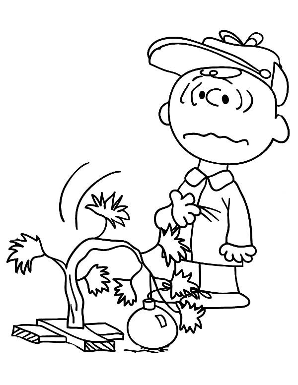 Charlie Brown Christmas Tree Coloring Page