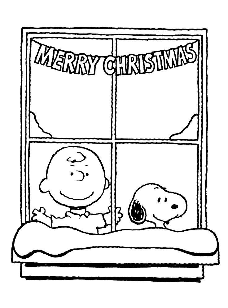Charlie Brown Merry Christmas Coloring Page