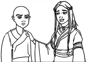 Cheer up emo aang booter freak avatar aang coloring page