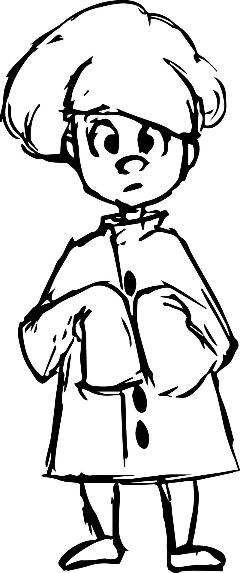 Chef Boy Character Design Coloring Page
