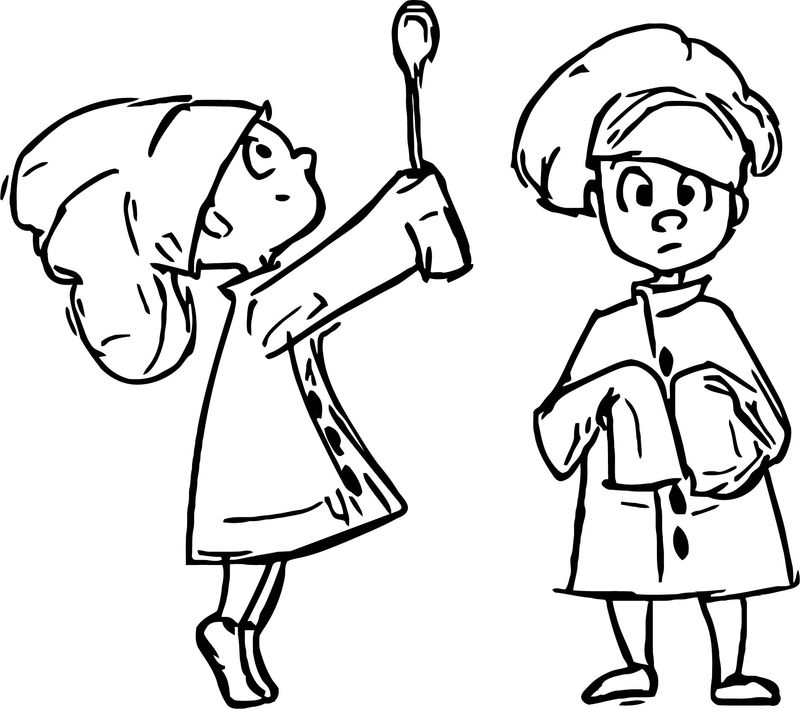 Chef Boy Character Design Scissorhands Chef Coloring Page