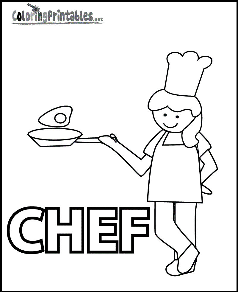 Chef Coloring And Activity Page