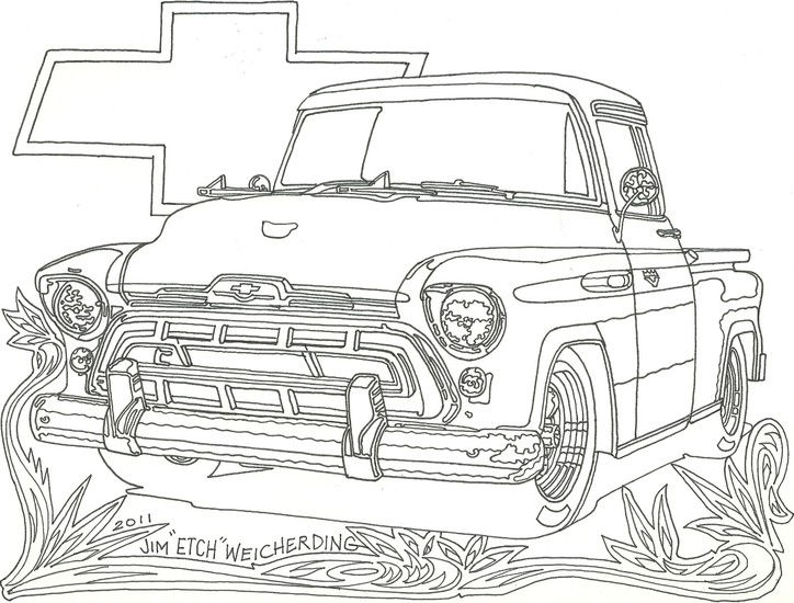 Chevy Truck Car Coloring Pages