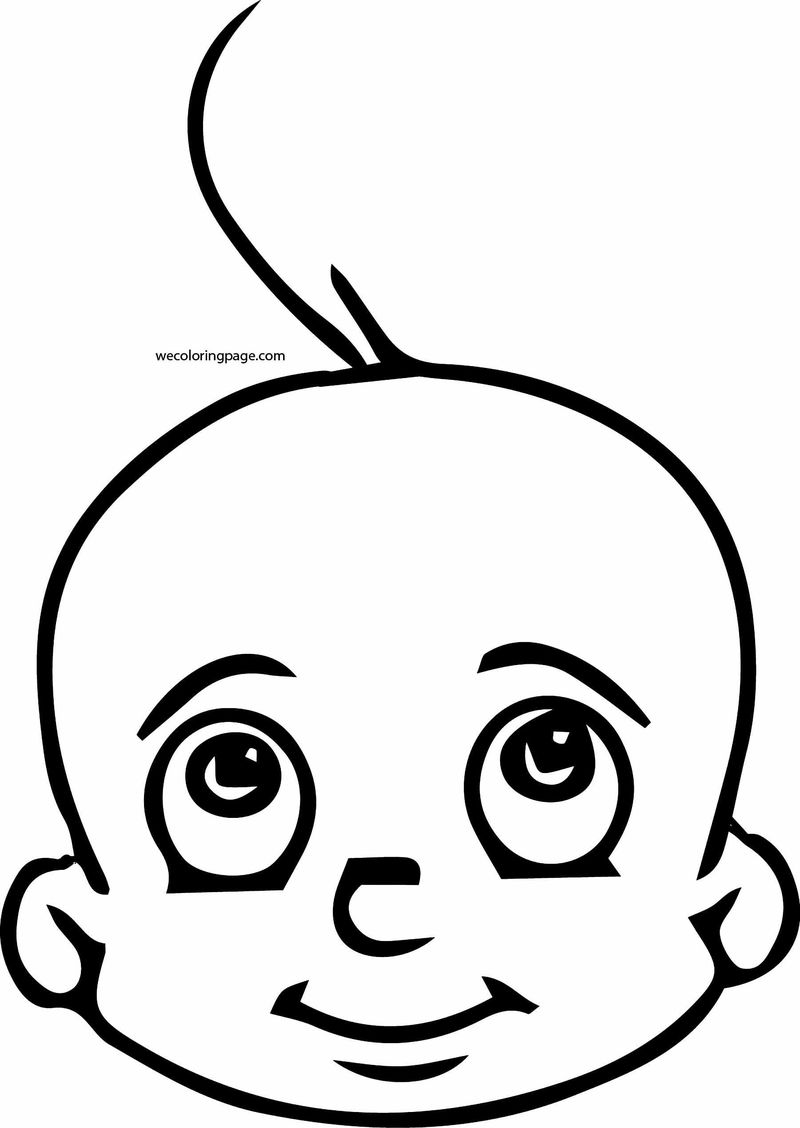 Chhota Bheem Baby Face Coloring Page