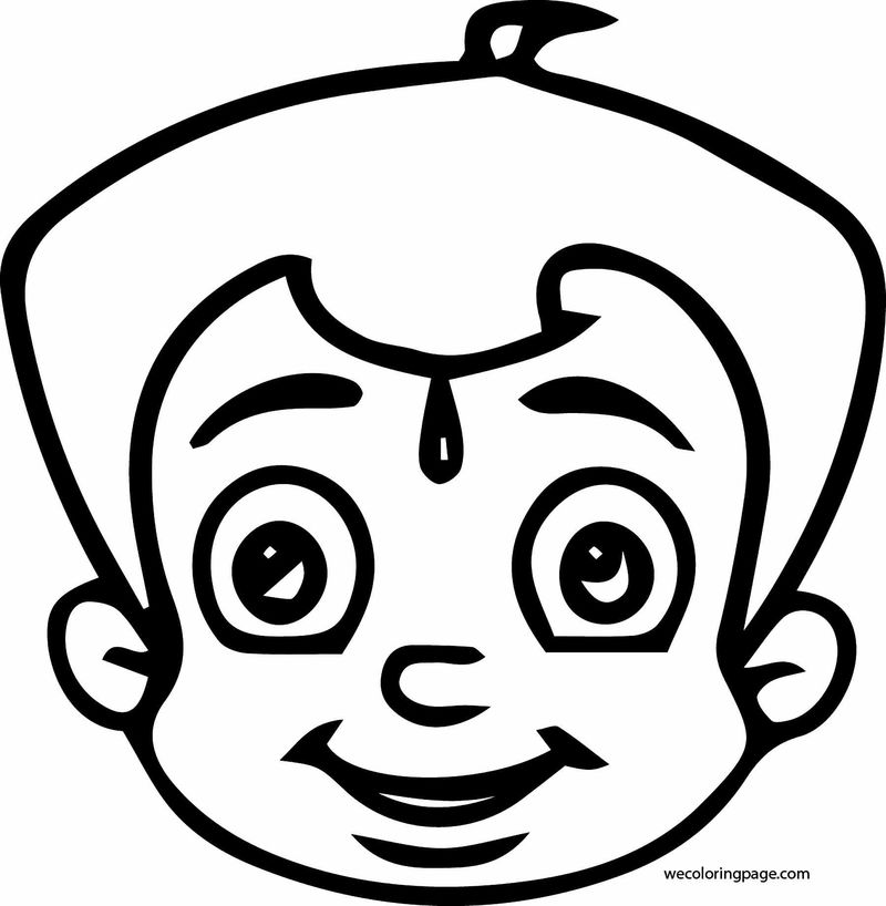Chhota Bheem Face Coloring Page