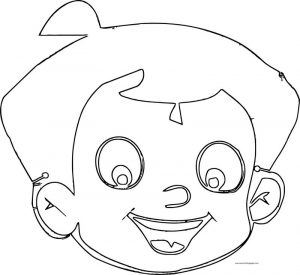Chhota bheem face outline coloring page