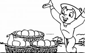 Chhota bheem food coloring page