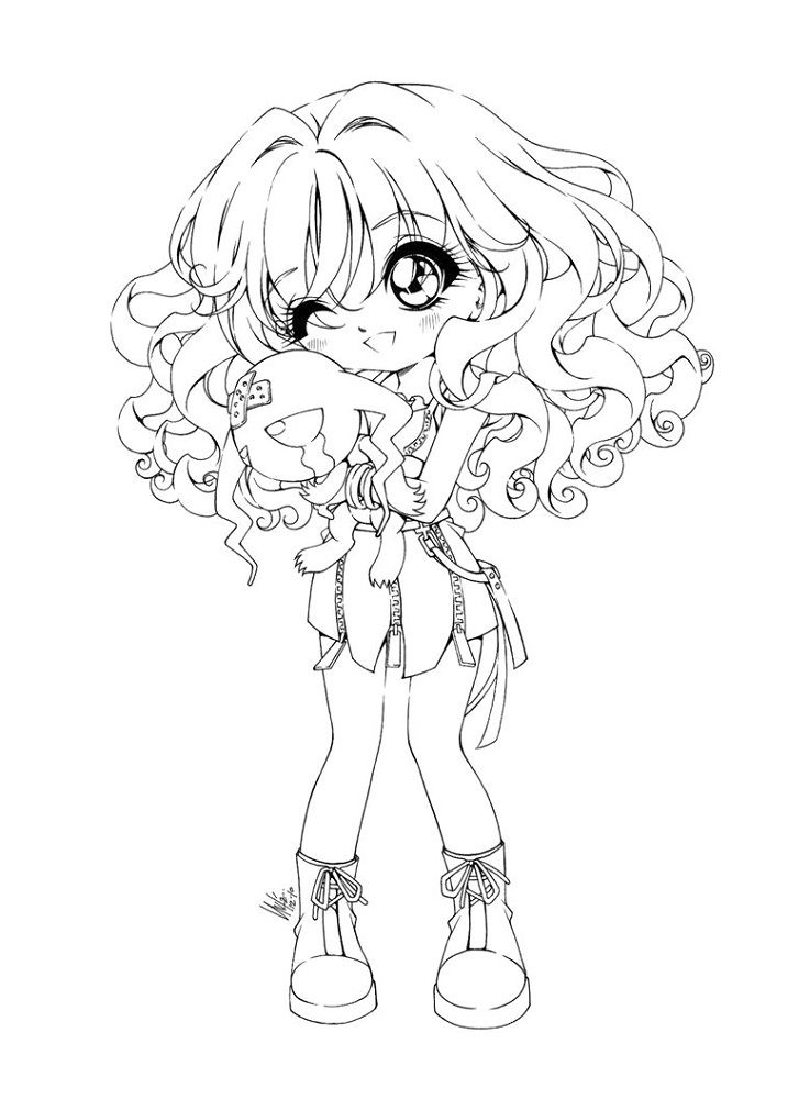 Chibi Coloring Pages Cute Girl