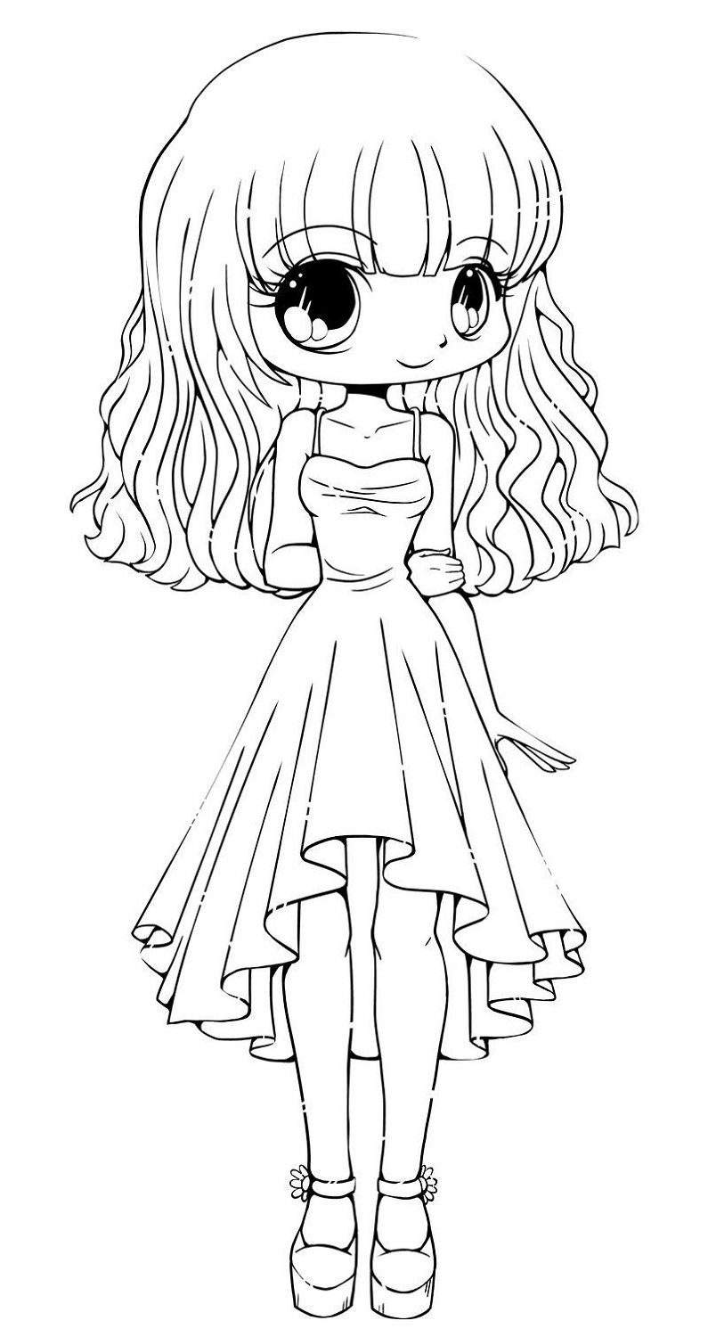 Chibi Coloring Pages Girl