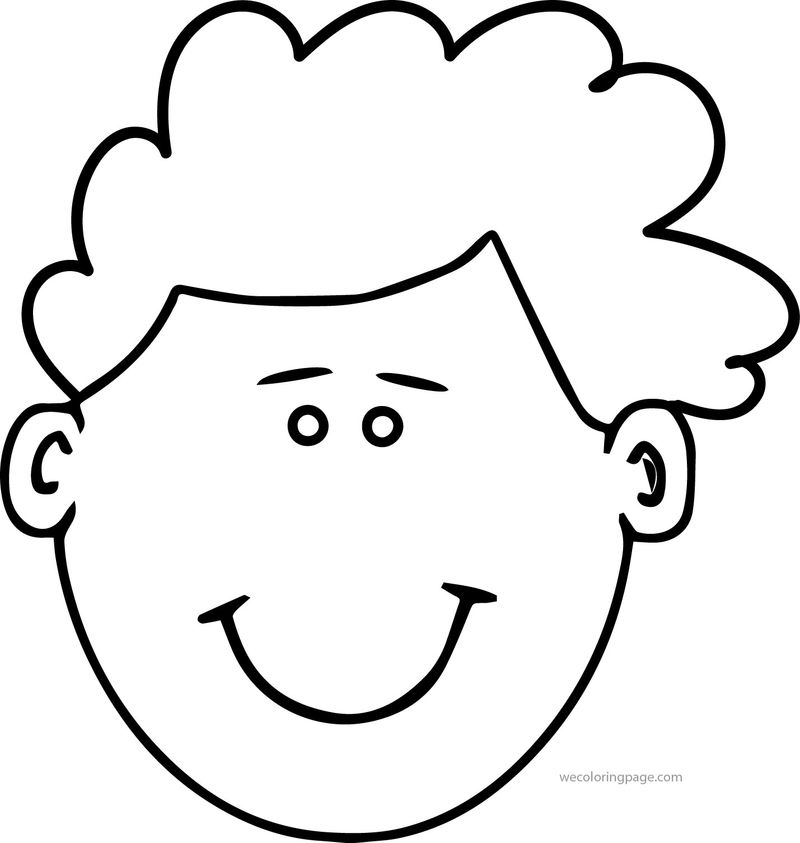 Child Face Coloring Page 1