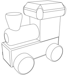 Child locomotive coloring page