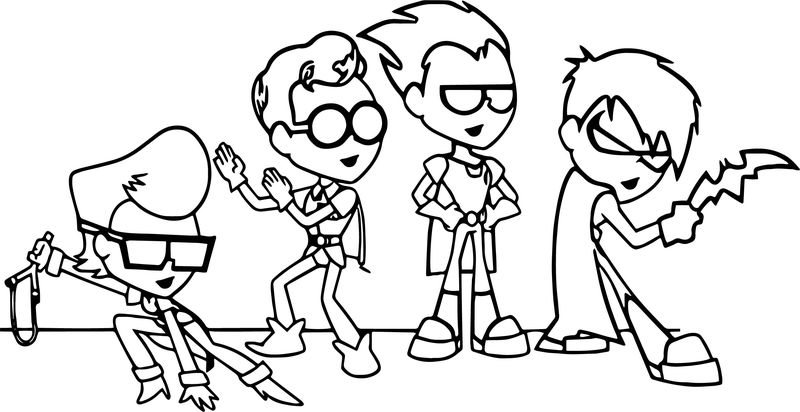 Child Robin Coloring Page