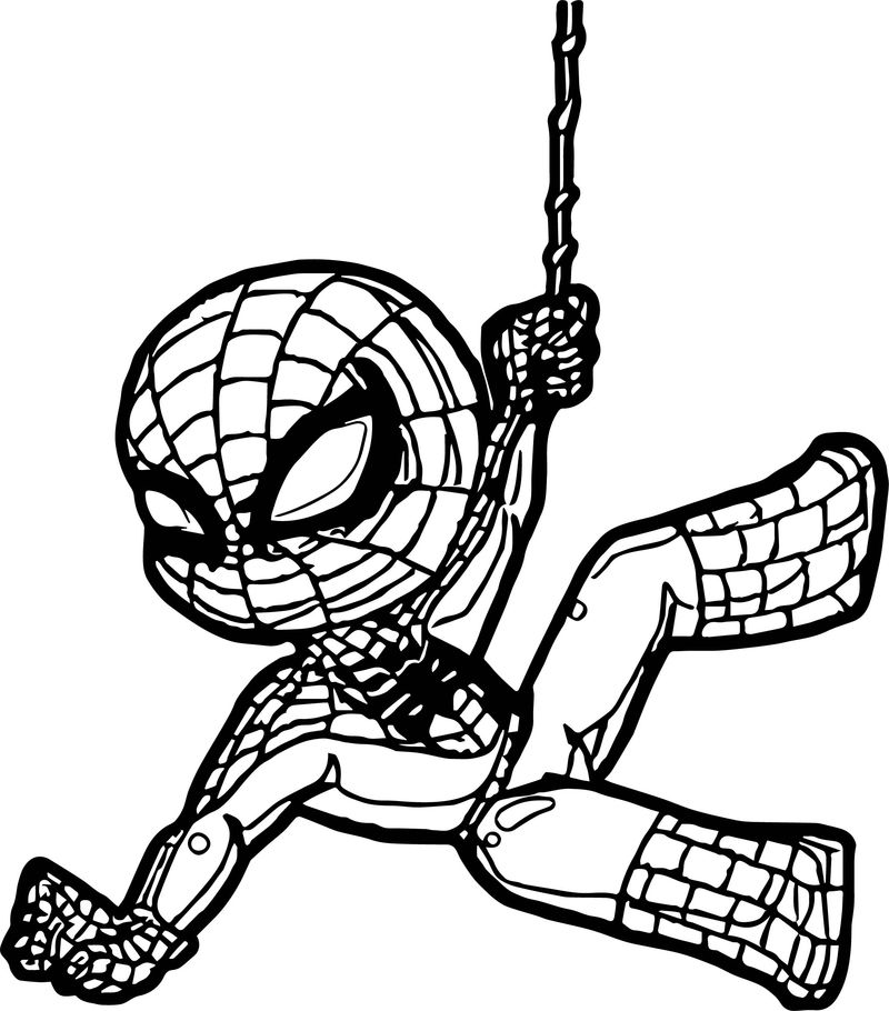 Child Spider Man Coloring Page
