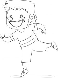 Children go coloring page