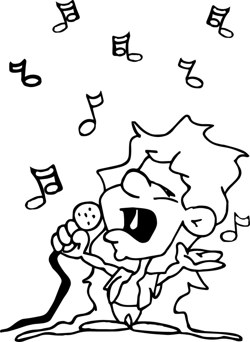 Children Say Song Coloring Page