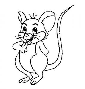 Childrens coloring pages to print for free mouse