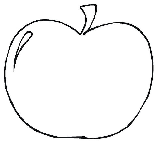 Childrens Colouring Activity Sheets Apple