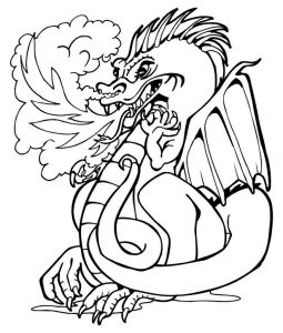 Chinese dragon coloring page 003