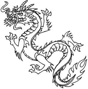 Chinese dragon coloring pages for kids 001