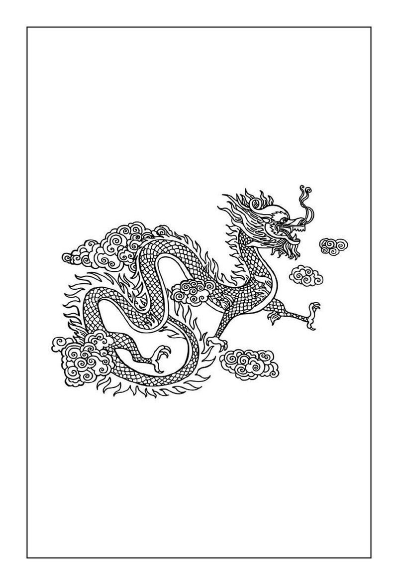 Chinese Dragon Coloring Pages